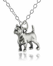 Small 3D Chihuahua Dog Charm Necklace - 925 Sterling Silver  Pet Puppy Dogs Pets