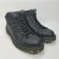 Doc Martens Harrisland Mens Black Leather Lace-up Boots Size 11 M AW004 SK 01 R