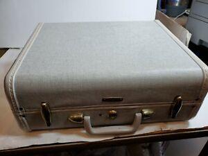 "Samsonite Gray Tweed yellow  Train 15"" Suitcase Luggage Denver Style 5416"
