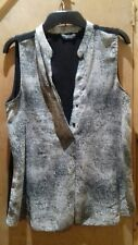 "Ladies Black Snakeskin style Print Sleeveless Blouse by ""Dorothy Perkins"" Size12"