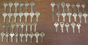 LOT OF 49 VTG ORNATE DOOR & LOCK KEYS. CORBIN YALE RUSSWIN SARGENT & MASTER ETC.