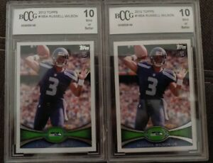 X2 2012 Topps Russell Wilson #165 Football Card BCCG 10
