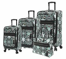 NEW Steve Madden Tribal Luggage 4 Piece Expandable Suitcase With Spinner Wheels