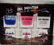 One Direction Rock Me Nail Varnish Nail Polish Set 3 Shades 3 Pots Nail Toppings