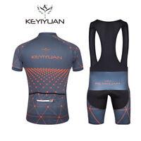 Men's Cycling Clothing Kit Short Sleeve Jersey & Padded Bib Shorts Coolmax Set