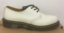 DR. MARTENS 1461 WINTER WHITE SOFTY T   LEATHER  SHOES SIZE UK 7