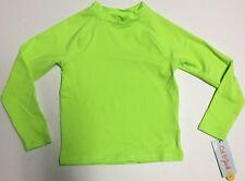 Kids Rash Guard, Neon Green, Long Sleeve, Size XS (4/5) *NEW* **FREE SHIPPING**