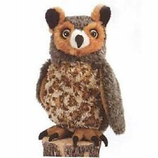 "10"" Great Horned Owl Plush Stuffed Animal Toy"