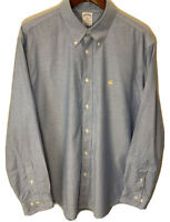 Brooks Brothers 1818 Mens XL Long Sleeve Button Down Regent Non-Iron Blue Shirt