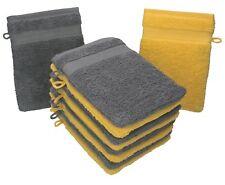 Betz Set di 10 guanti da bagno Premium misure 16 x 21 cm 100% cotone giallo e gr