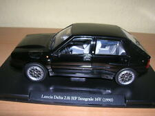Atlas Fabbri Lancia Delta 2.0i HF Integrale 16V Baujahr 1990 schwarz black 1:24
