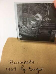 Bernadette. Pop Singer . 1969.  2x2 Vintage Original Negative .