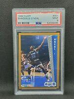 Shaquille O'Neal 1992-93 FLEER PSA 9 MINT Rookie Card #401 SHAQ RC HOF