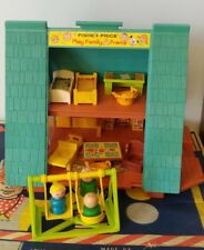 Fisher Price Vintage Little People A Frame House #990 Play Family with extras