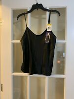 NEW VTG vanity fair classic elegance camisole black womens 36 style 17620