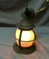 Antique Arts Crafts Copper Porch Sconce Lantern Frosted Glass Vtg 1000-20B