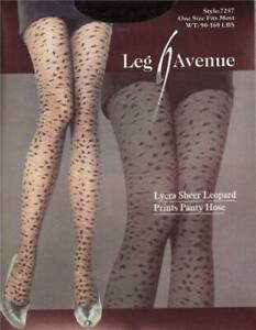 Ultra Sexy Lycra Sheer Leopard Print Tights Ladies Patterned Fashion Pantyhose