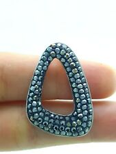 925 STERLING SILVER TURKISH HANDMADE SWAROVSKI CRYSTALS JEWELRY PENDANT FOR HER