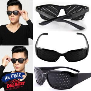 1X Vision Improver Exercise Anti-fatigue PM Pinhole Eyesight Care Glasses Black