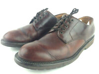 Orvis Mens US 10M Brown Conditioned Leather Lace Up Casual Loafer Oxfords