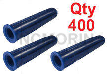 Qty 400 Blue Conical Plastic Anchors, #4 and #6 Screw Length to use 7/8-Inch