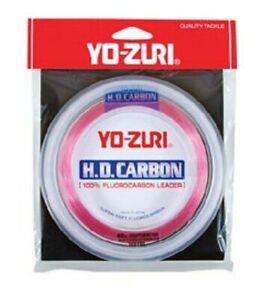 Yo-Zuri HD Carbon Disappearing Pink Fluorocarbon Leader [Pick Test,30yd/100yd]