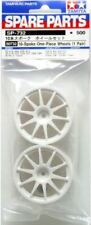 Tamiya 50732 10-Spoke One-Piece Wheels (1 Pair) (TT01/TL01/TT02/FWD) NIP