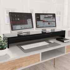 vidaXL Monitor Stand High Gloss Black Chipboard Screen Display Computer Riser