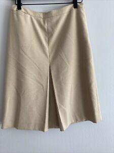 Ann Taylor Midi  Tan Skirt Size 4