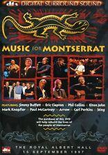Music for Montserrat (2004, REGION 1/4 DVD New) Collins/Buffet/Sting/C