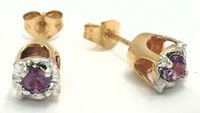 ALEXANDRITE 0.30 carats 14k YELLOW GOLD EARRINGS *No inclusions or flaws*