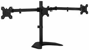 Mount-It! Triple Monitor Stand 3 Monitor Stand Fits 19-27 Inch Computer Screens