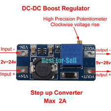 DC Boost Adjustable Step Up Voltage Converter Power Supply Module 5v 12v 24v 2A