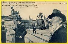cpa BERLIN Prof. Art Reinhold BEGAS am NATIONAL DENKMAL Vendeur de Carte Postale