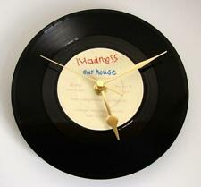 """MADNESS Vinyl Record Clock Made from recycled 7"""" single """"Our House"""" housewarming"""
