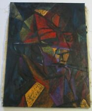 LARGE OIL PAINTING ABSTRACT CUBIST CUBISM EXPRESSIONISM PORTRAIT OF PICASSO ?