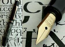 More details for pelikan 100n grey marble celluloid fountain pen 1940s. 14k f full flex nib. mint