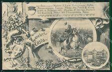 Militari Reggimentali VI Lancieri di Aosta Ferrara 1909 cartolina XF2131