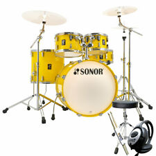 Sonor AQ1 Stage Set Schlagzeug Lite Yellow + keepdrum Zubehör