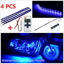 Wireless Remote Control Motorcycle Blue LED Light Strip Kit For Harley-Davidson
