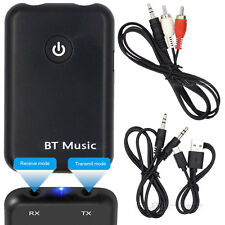 2in1 Slim Wireless Bluetooth 4.2 Stereo Audio Adapter Music Transmitter Receiver