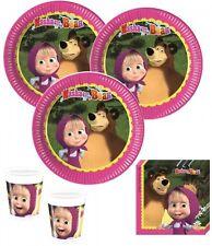 52 Teile Mascha und der Bär Party Deko Basis Set - für 16 Kinder