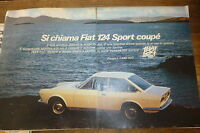 ADVERTISING PUBBLICITA'  FIAT 124 SPORT COUPE'  -  1967