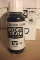 Acrylique Modèle Peinture 17ml VAL800 Av Vallejo Couleur - Métal Gunmetal Bleu
