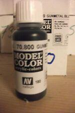 ACRYLIQUE MODÈLE PEINTURE 17ml VAL800 AV Vallejo Couleur Métal Vert-de-gris Bleu