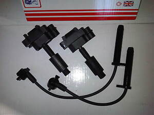 FORD TRANSIT MK6 2.3 PETROL & LPG 2x BRAND NEW IGNITION COILS + PLUG HT LEADS