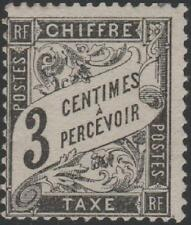 """FRANCE STAMP TIMBRE TAXE N° 12 """" TYPE DUVAL 3c NOIR """" NEUF xx TB"""
