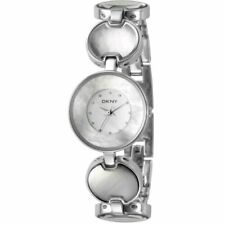 NEW DKNY SILVER TONE MOTHER OF PEARL STEEL BRACELET-NY4720