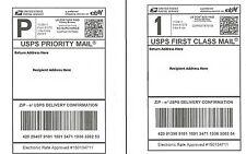 50 Self Adhesive Shipping Labels - Laser/Inkjet Printer, PayPal, UPS USPS FedEx