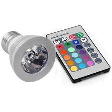 SPOT RGB LAMPADA FARETTO E27 3W LED POWER LED  BASSO CONSUMO CROMOTERAPIA **